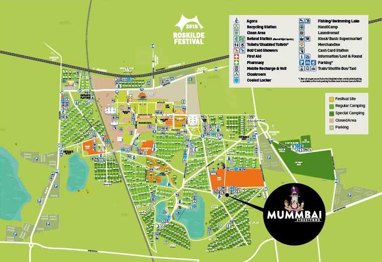 Kort over festivalpladsen